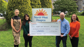 Sligo companies raise €2500 for North West hospice